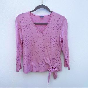 Ann Taylor hearts top pink small bow